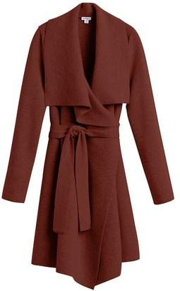 Cuyana Wool Cashmere Short Wrap Coat
