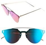 Leith Women's 50Mm Mirrored Round Sunglasses - Blue