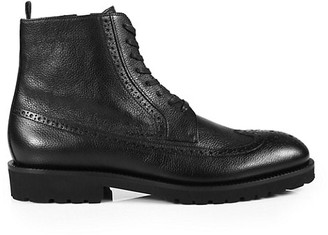 HUGO BOSS Eden Leather Lace-Up Boots