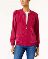Alfred Dunner Family Jewels Petite Embellished Quilted Bomber Jacket