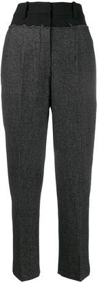 Cavallini Erika wool appliqué tailored trousers