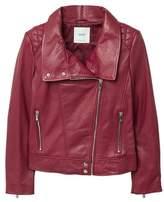 MANGO Lapels leather jacket