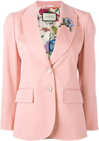 Gucci floral appliqué blazer - women - Silk/Cotton/Spandex/Elastane - 46