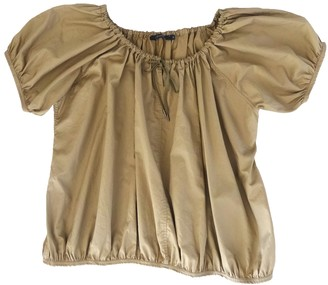 Sofie D'hoore Beige Cotton Top for Women