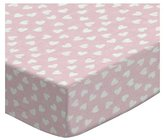 SheetWorld Extra Deep Fitted Portable / Mini Crib Sheet - Hearts Pastel Woven - Made In USA