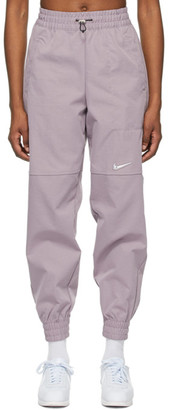 Nike Purple Woven Sportswear Swoosh Lounge Pants