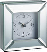 John Lewis Simple Bevel Mantel Clock, Clear