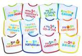 Neat Solutions 12-Pack Baby's 1st Year Holiday Bib Set