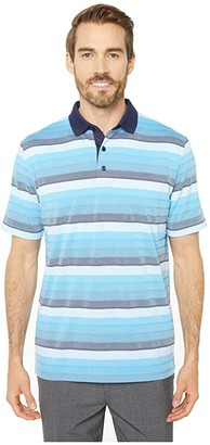 Callaway Yarn-Dyed Gradient Oxford-Striped Polo (Peacoat) Men's Clothing
