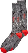 Perry Ellis Men's Heathered Geo-Dot Dress Socks