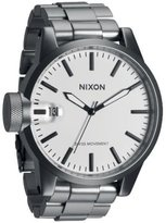Nixon Men's Chronicle SS A1981166 Silver Stainless-Steel Swiss Quartz Watch with Dial
