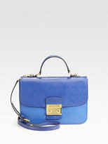 Miu Miu Madras Bi-Color Top Handle Shoulder Bag