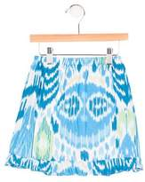Oscar de la Renta Girls' Flounced Ikat Skirt