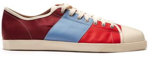 Marni Low Top Canvas Trainers - Mens - Blue Multi