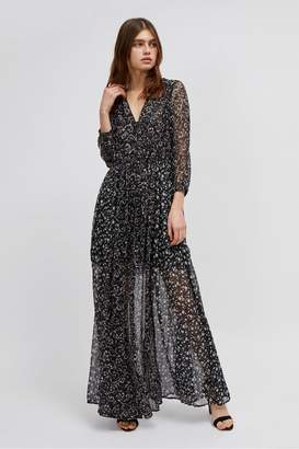 French Connection Ameliea Crinkle Maxi Shirt Dress
