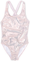 Finger In The Nose metal swimsuit - kids - Polyamide/Polyester/Spandex/Elastane - 10 yrs