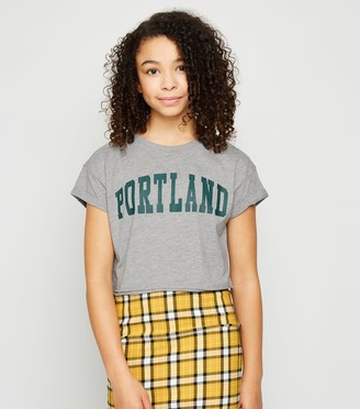 New Look Girls Portland Slogan T-Shirt