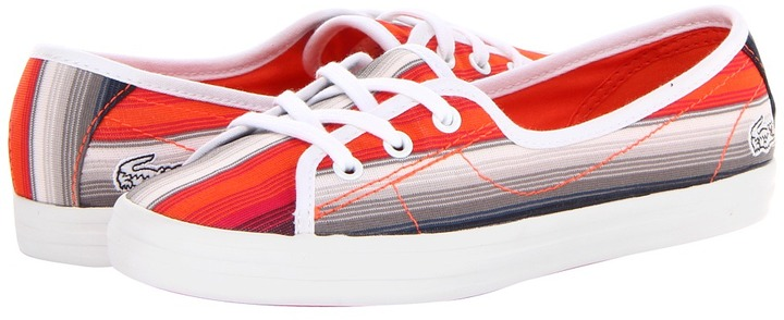 Lacoste Ziane Chunky Tro (Grey/Orange) - Footwear