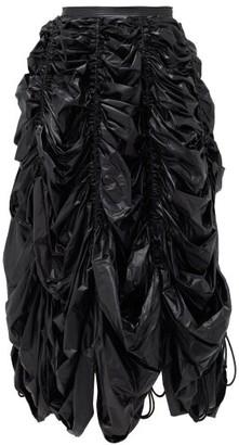 Norma Kamali Parachute Technical-shell Midi Skirt - Black