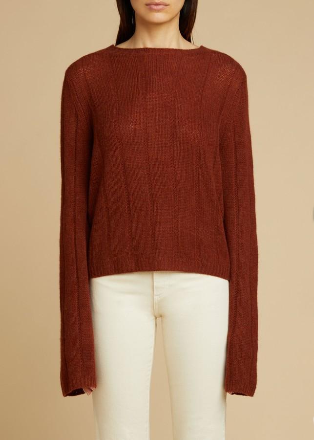 KHAITE The Nelley Sweater in Mahogany