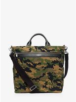 Michael Kors Grant Camouflage Bonded-Canvas Tote