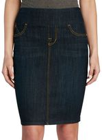 Rock & Republic Women's Wide Waistband Jean Skirt