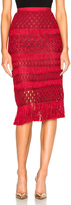Oscar de la Renta Crochet Skirt