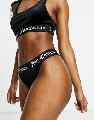 Juicy Couture co-ord velvet brief in black