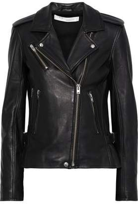 IRO Newhan Washed-leather Biker Jacket