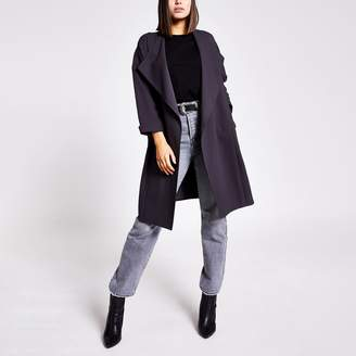 River Island Womens Grey open front duster jacket