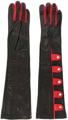 Manokhi Two-Tone Snap Button Gloves