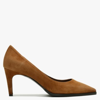 Calpierre Bluefield Tan Suede Court Shoes