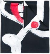 Moschino skull print scarf