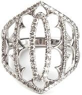 Loree Rodkin white gold and grey diamond pave shield ring