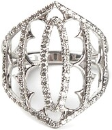 Thumbnail for your product : Loree Rodkin White Gold And Grey Diamond Pave Shield Ring