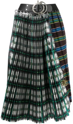 Chopova Lowena Contrast Check Skirt