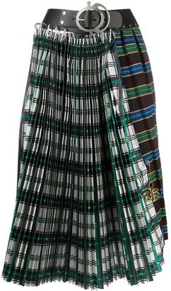 Chopova Lowena Contrast Check Skirt