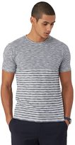 Frank + Oak Multi Stripe Crewneck T-Shirt in Navy