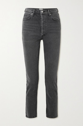 Citizens of Humanity Charlotte Cropped High-rise Straight-leg Jeans - Dark gray