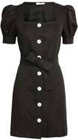 Sandro Paris Belted Puff Sleeve Dress