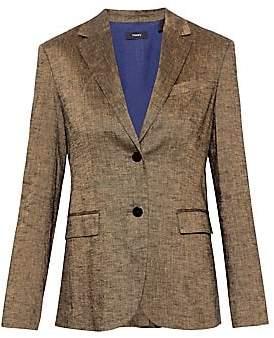 Theory Women's Textured Linen Classic Blazer