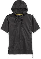 Sean John Men's Short-Sleeve Hooded Flight Shirt