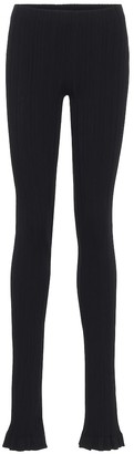 Acne Studios Ribbed-knit cotton-blend leggings