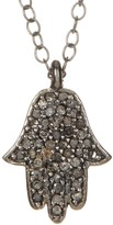 ADORNIA Hamsa Champagne Diamond Necklace - 0.25 ctw