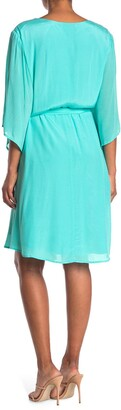 Marée Pour Toi Belted Bell Sleeve Wrap Dress