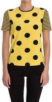 Moschino Women's Yellow/black Polyester T-shirt.