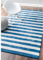 nuLoom Handmade Modern Stripes Kids Rug (7'6 x 9'6)