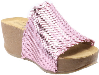 Bos. & Co. Bawl Leather Wedge Sandal