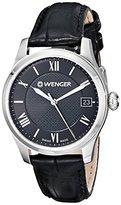 Wenger Women's 0521.104 Analog Display Swiss Quartz Black Watch
