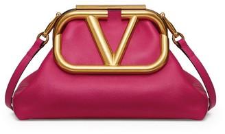 Valentino Garavani Leather Supervee Clutch Bag
